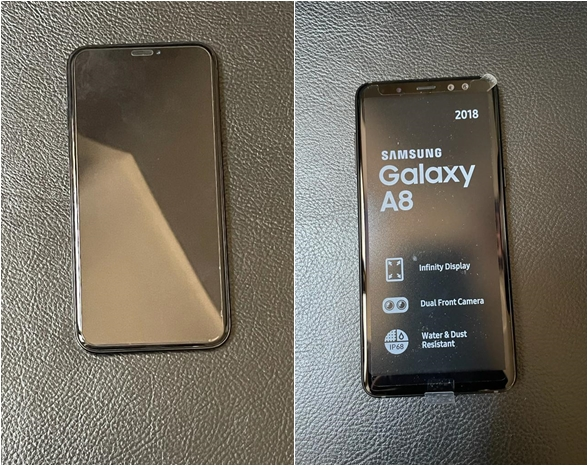 Iphone X and Samsung Galaxy A8